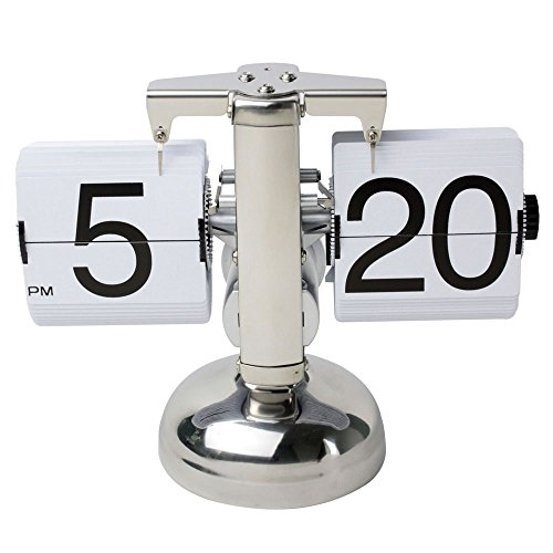 niceeshop(TM) Retro Flip Down Clock Internal Gear Operated,White' With Accessory Cable Tie 41C7EpfWYmL