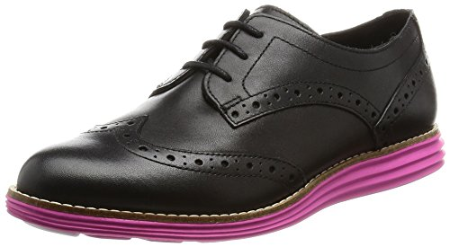 Cole Haan Womens Original Grand Wingtip Waterproof Shoe Black Waterproof-fuschia