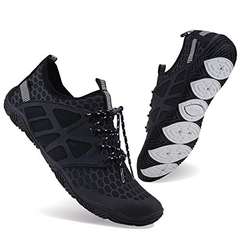 WXDZ Mens Womens Water Shoes Swim Shoes Aqua Shoes Beach Sports Quick Dry Barefoot for Boating Fishing Diving Surfing…