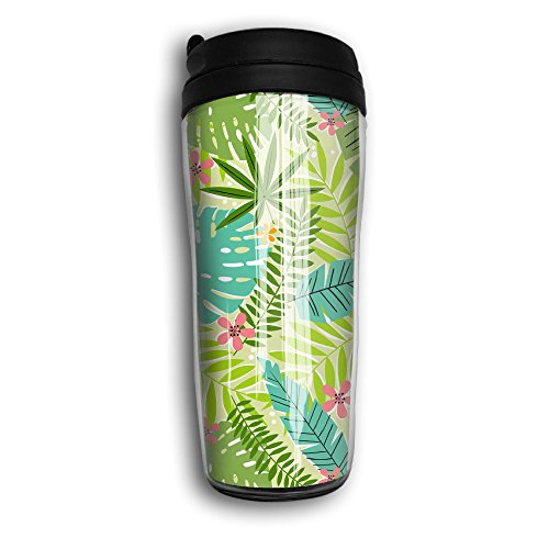 CUP HOME Tropical Leaves Palm Leaf Adults Children Insulation Heat Insulation Travel Thermos Coffee - Miami Prescription Glasses