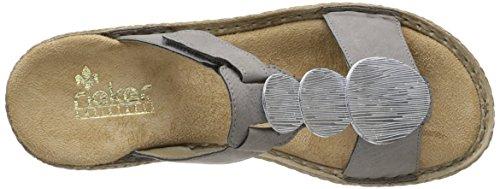 Sandales Gris 65853 Rieker 44 Femme AZgPx0q