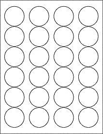 graphic regarding Printable Stickers Round titled (6 SHEETS) 144 1-2/3\