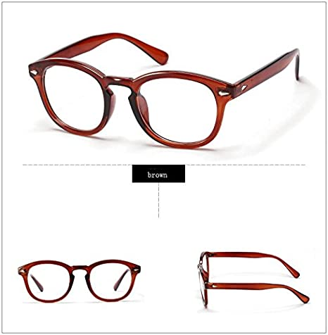5bea58c2983 Xyindia(TM) Retro Designer Eyeglasses Frames with Clear Lens Johnny Depp  Glasses Optical Degree Frames Eyeglass Eyewear oculos de grau 2038W