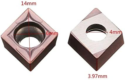 un known 10pcs CCMT09T304-PC Carbide Insert Cutter for Turning Tool Holder Accessory Electronic Accessories