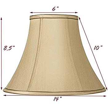 Springcrest Tan and Brown Bell Lamp Shade 7x14x11 (Spider ...