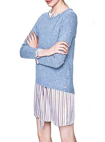 Donna Pepe Maglioncino PL701370 Blu Jeans 66zAtYq