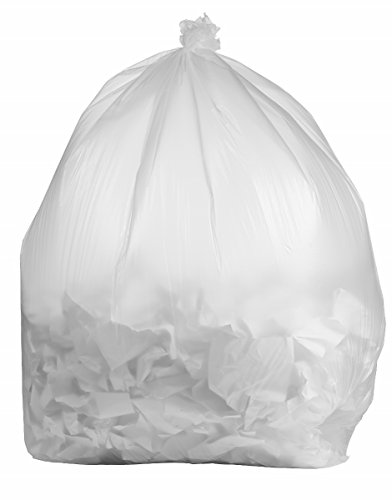Plastic Mill-95 Gallon Clear Trash Bags, 1.5 Mil, 322968 10 Bags/Case