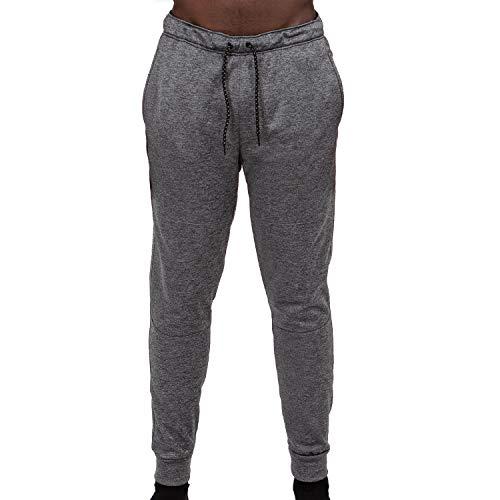 Layer 8 Men's Performance Tech Knit 2.0 Athletic Fleece Sweatpant (Small, Grey Heather)