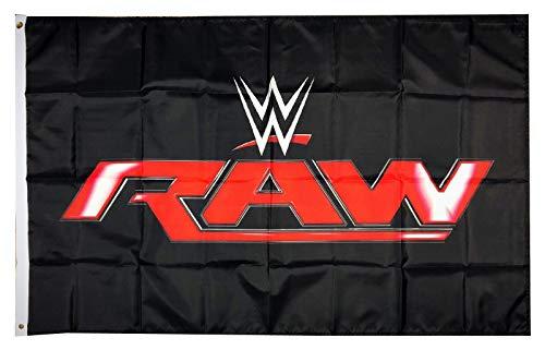 Mountfly WWE Monday Night Raw World Wrestling Entertainment Flag Banner 3X5 Feet Man Cave -