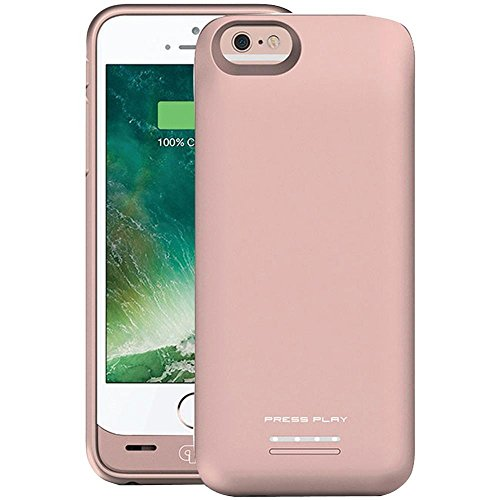 iPhone 6S Battery Case – iPhone 6 Battery Case, Venue [Apple Certified] Slim External Protective Portable Extra 120% Charging Case for iPhone 6S 6 (4.7-inch) Juice Bank Power Pack Bank - Rose Gold