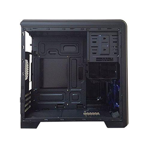 APEVIA X-QTIS-BK Micro ATX Gaming/HTPC Case, Supports Video Card up to 340mm/ATX PS, 1 x Window, USB3.0/USB2.0/HD Audio Ports, 1 x 120mm Blue LED fan, Dust filter, Black by Apevia (Image #5)