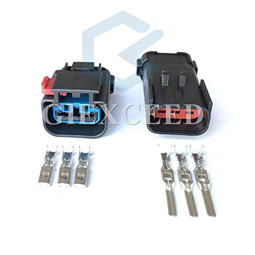 5 Sets Headlight Wiring Connector Pigtail FCI Apex 2.8mm Waterproof Automotive Plugs 3 Pin 54200308 54200312 Female Male