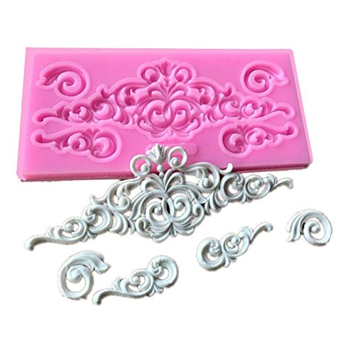 Mold Silicon - Scrolls Cake Border Silicone Flower Vine Fondant Decorating Cupcake Chocolate Gum Paste Clay Candy - Cutters Borders Decoration Mold Tools Cutter Strips Decorating Paper Borde