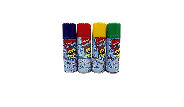 Spray serpentina - Rojo, Unica: Amazon.es: Juguetes y juegos