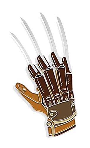 (Yesterdays Co Freddy Glove Soft Enamel Black Metal Plated Lapel Pin)