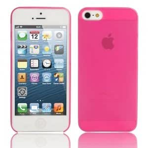 Ultra-thin ( 0.3mm ) Dull Polish Protective Case for iPhone 5/5S Rose Red