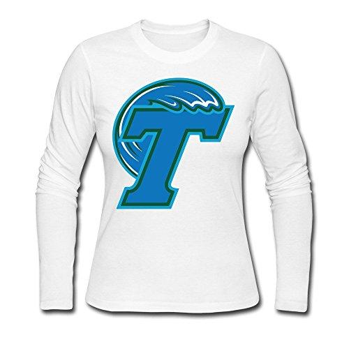 Tulane University Logo Female Long Sleeve T-Shirt White (Animal Jam Merchandise compare prices)