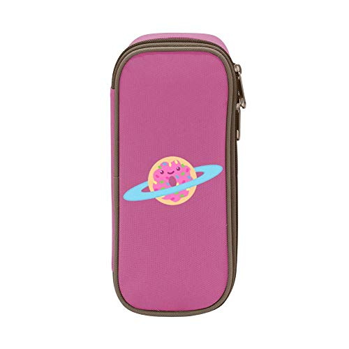 Pen Bag Pencil Case Space Doughnut Canvas Storage Space Portable Students Stationery Box Office Storage with Double Zipper Mulit-Function -  APICELLAjiow, PWSS-RZ6-NTZ