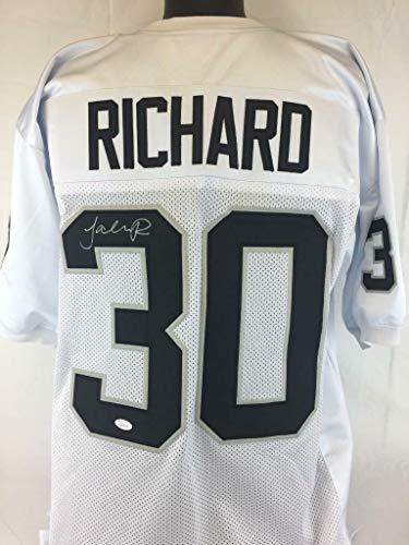 Richard Jersey Autographed - Jalen Richard Autographed Signed Autograph Jersey Raiders Autograph JSA Authentic Certificate