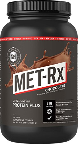 MET-Rx Metamyosyn Whey Isolate and Casein Protein Powder, Great for Meal Replacement Shakes, Low Carb, Gluten Free, Chocolate, 2 lbs (Power Mix Carb Drink)