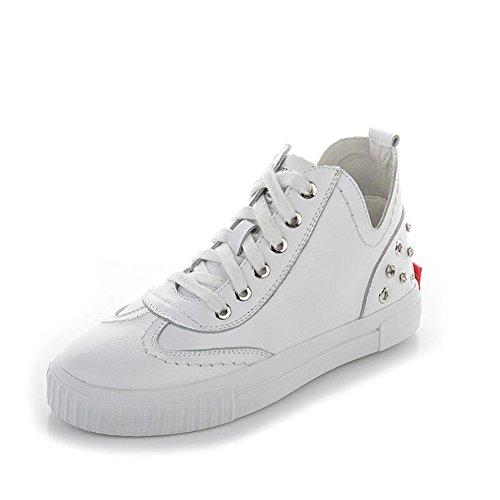 Zapatos de Mujer Zapatos Blancos Pequeños 2018 Zapatos de Plataforma con Caída de Primavera Zapatos de Plataforma de Diamantes de Imitación, Zapatos Deportivos de Mujer de Moda Un
