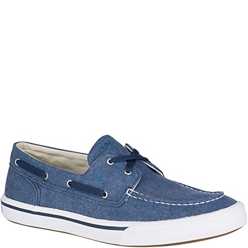 Sperry Top-Sider Men's Bahama II Boat Washed Sneaker, Navy, 10.5 Medium (Blue Boat Shoes)
