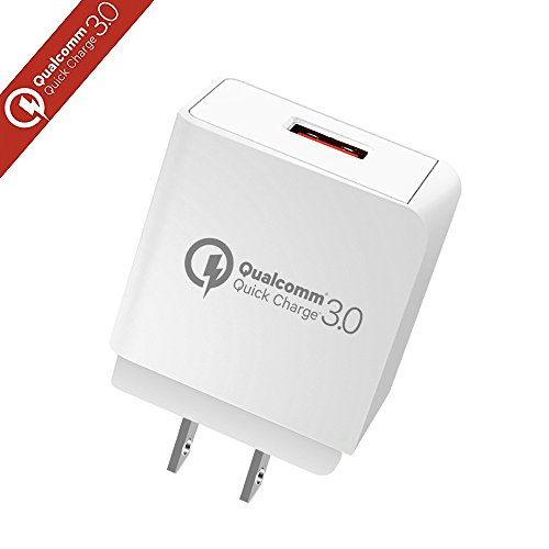 Quick Charge 3.0, YOKERSU 18W USB Wall Charger (Quick Charge 2.0 Compatible)Smart Charging Adapter for Galaxy S7/S6/Edge/Plus, Note 5/4, LG G4, HTC One A9/M9, Nexus 6, iPhone, iPad and More