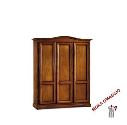 CLASSICO armadio legno mobile 3 ante legno per soggiorno salotto ...