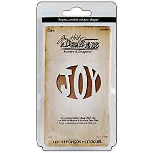 Sizzix 656935 Movers and Shapers Magnetic Die, Joy by Tim Holt