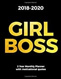 2018-2020 GIRL BOSS 3 Year Monthly Planner with motivational quotes: Monthly Schedule Organizer for Women - Agenda For 3 Years, Month Per Page Diary, Letter Sized: 8.5 x 11 inch; 21.59 x 27.94 cm