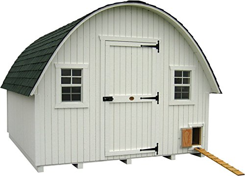 Little Cottage Company Round Roof Coop Panelized Playhouse Kit, 10′ x 10′