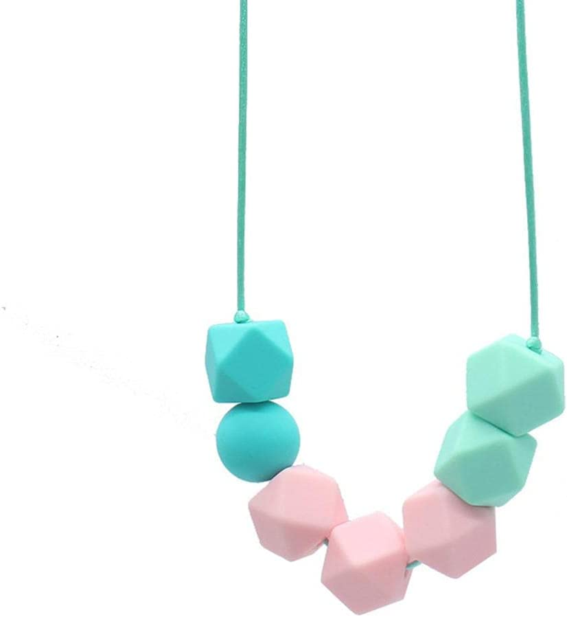 Sensory Chew Necklace Chewable Toy Made from Food Grade Silicone Safety for ADHD Autism Anxiety Hyperactivity Kids 1 PSC.