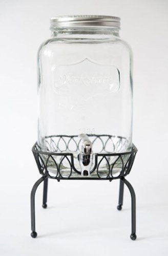 gallon glass mason jar beverage dispenser metal stand barn weddings drink with uk walmart ideas