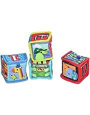 Zachte rammelaarblokken, zachte blokken speelgoed mooie uitstraling met 4 stuks om te spelen(Type A 1 set of 4 prices)
