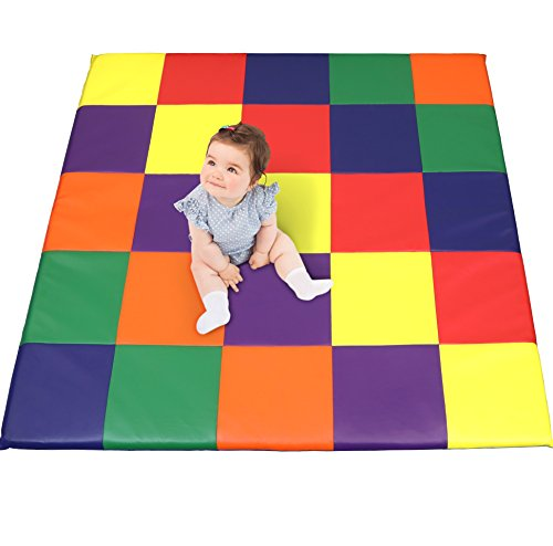 Patchwork Mat - Dream Tree Puzzle Play Mat with Washable, Safe Non-Toxic CPSIA Compliant Soft Foam Activity Playmat for Baby, Infants, and Kids.