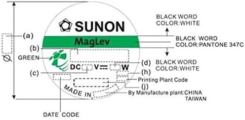 Ventilator Fan 5V 0,38W 25x25x6mm 3,7m/³//h 18dBA ; Sunon MF25060V21000UA99