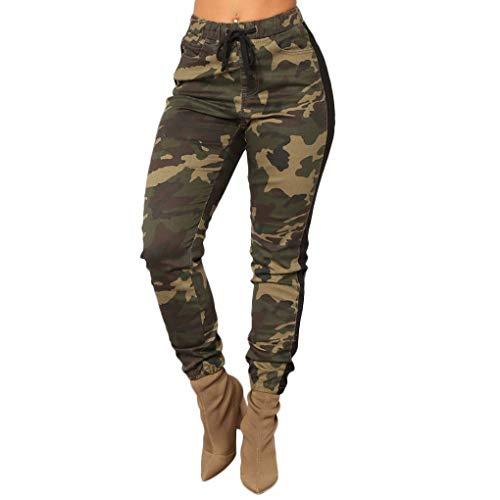 Taille Slim Mengonee Pantalons D'automne Femmes Pantalon Camouflage 4YA71wZq