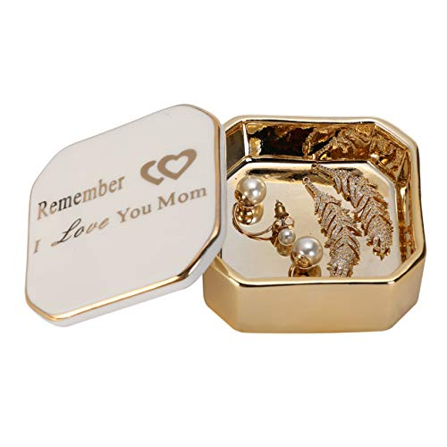Scwhousi Remember I Love Your Mom,Small Jewelry Trinket Box, Birthday Gifts