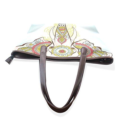 Elephant 002 tout Sacs On cuir cm The M à PU Henné tout Sac poignée 40x29x9 fourre indien COOSUN fourre Grand en bandoulière Multicolor pwqB7dCp