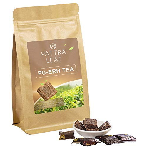 - Pu'erh Tea Bag Organic Black Loose Tea, Yunnan Ripe Pu'erh Tea compressed in small flat portions, 4oz