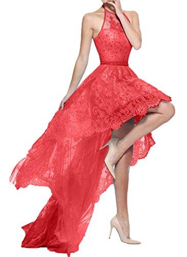 lo mia Braut Neckholder Abschlussballkleider A Spitze Linie Festlichkleider Abendkleider Rot La Partykleider Ballkleider Hi ZqzCq