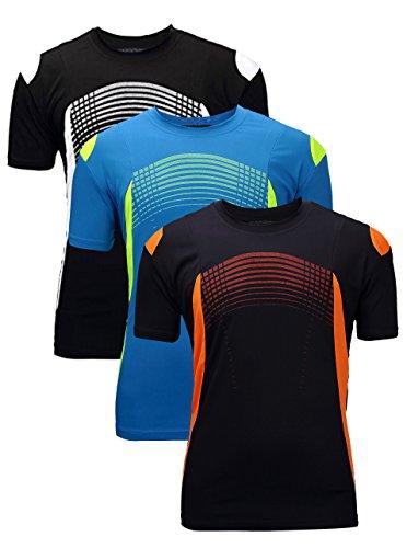 Men's Fun Run T-shirt Tee Navy&Blue&Black Large