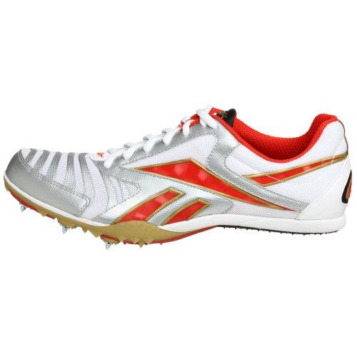 Reebok Männer Kuai Distance Track Spike Weiß / Silber / Rot