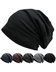 LULULY Slouch Beanie Hat for Man Knit Fabric Hat Breathable & Stretchy Skull Cap