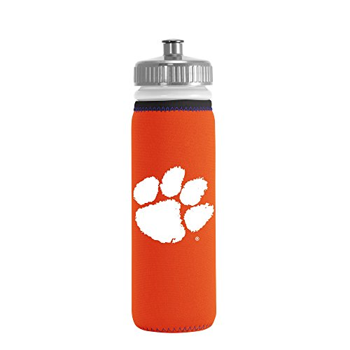 NCAA Clemson Tigers Van Metro Squeezable LDPE Water Bottle, Orange, 22-Ounce by Kolder