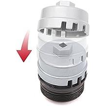 "Danti Oil Filter Wrench For Toyota & Lexus 4 Cylinder Prius Matrix Rav4 Auris Corolla HighlanderAvalon Camry Scion TC- Super Strong Aluminum Alloy, Fits 3/8"" & 1/2"" Drive"