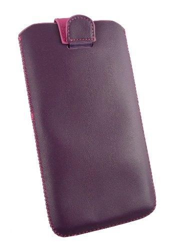 Emartbuy® Rosa Púrpura / Caliente Superior De La Pu Slide Cuero En Sostenedor De La Case Carcasa Funda Caja De La Manga (Tamaño 5Xl) Con Mecanismo Ficha De Extracción Adecuada Para Asus Zenfone 6