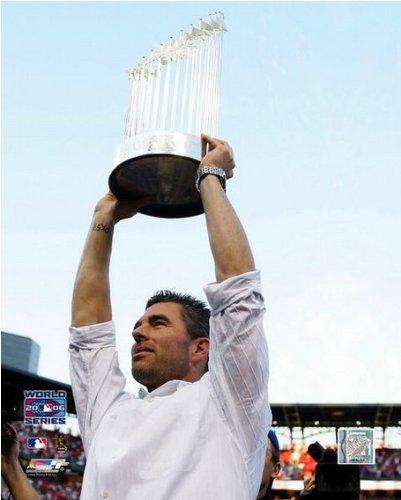 (Jim Edmonds St. Louis Cardinals 2006 World Series Trophy Photo (Size: 8