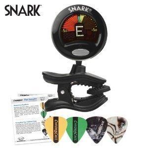 Snark SN-5 Tuner for Guitar, Bass, Violin with ChromaCast Guitar Pick Sampler