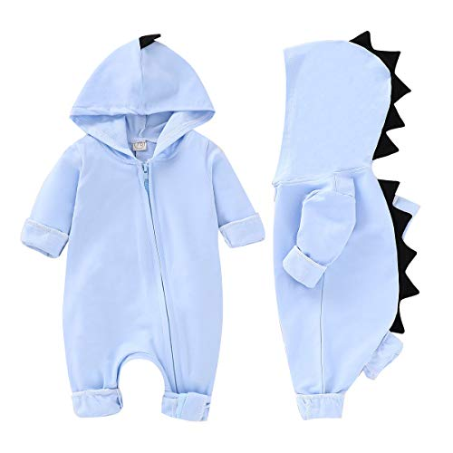 YOUNGER TREE Baby Boys Girls Cotton Rompers Long-Sleeve Jumpsuit Bodysuit Onesie Fall Winter Clothes for 0-24 Months Infant